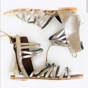 Free People silver Juliette gladiator sandals
